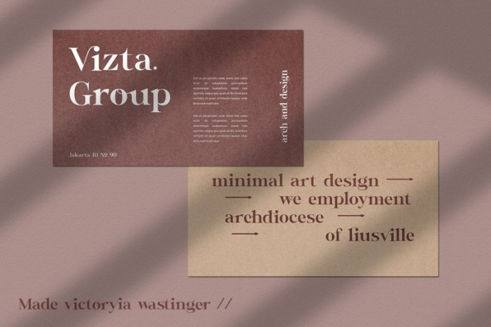 Victoryia Wastinger Font