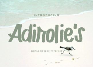 Adirolie's Font