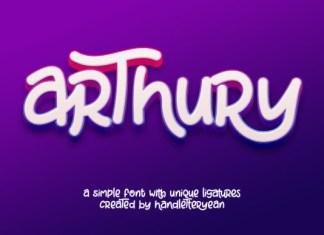 Arthury Font