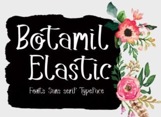 Botamil Elastic Font