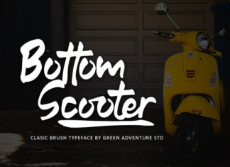 Bottom Scooter Font