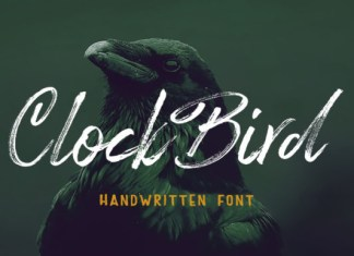Clock Bird Font