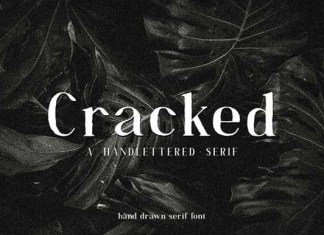 Cracked Font