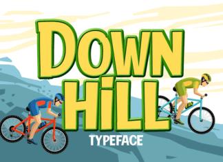 Down Hill Font