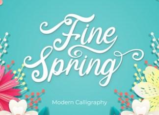 Fine Spring Font