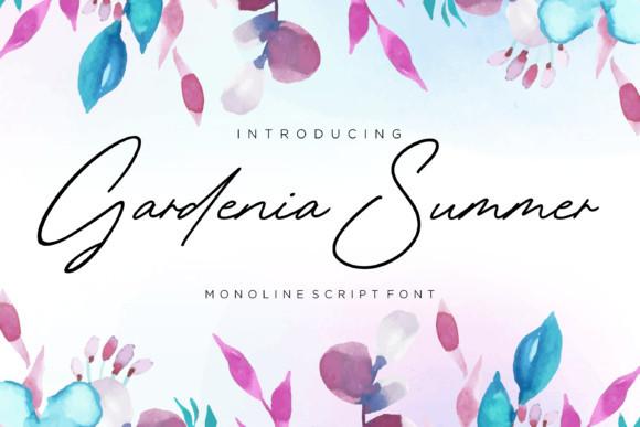 Gardenia Summer Font