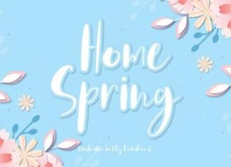 Home Spring Font