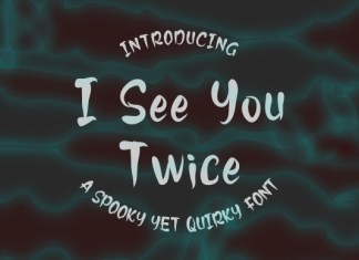 I See You Twice Font