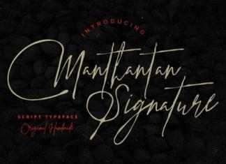 Manthantan Signature Font