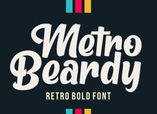 Metro Beardy Font
