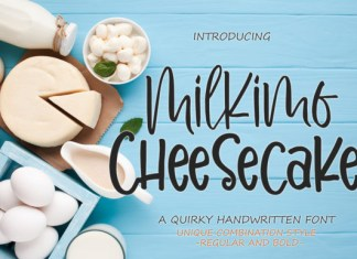 Milkimo Cheesecake Font