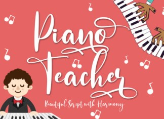 Piano Teacher Font