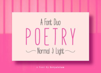 Poetry Font