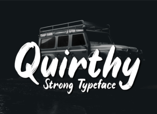 Quirthy Font