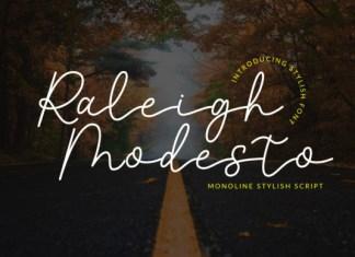 Raleigh Modesto Font