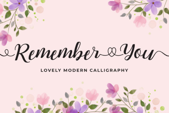 Remember You Font