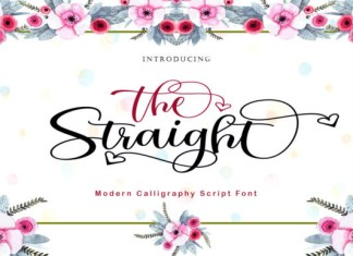 The Straight Font