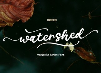 Watershed Font