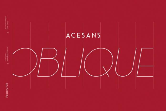 Ace Sans Oblique Font