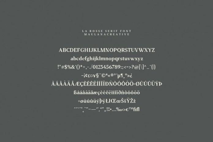 La Rosse Three Font