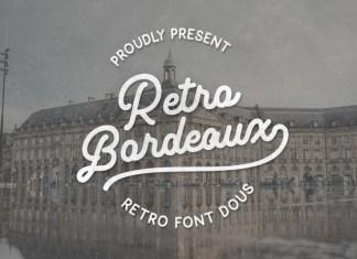 Retro Bordeaux Font