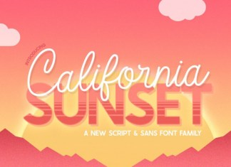 California Sunset Font