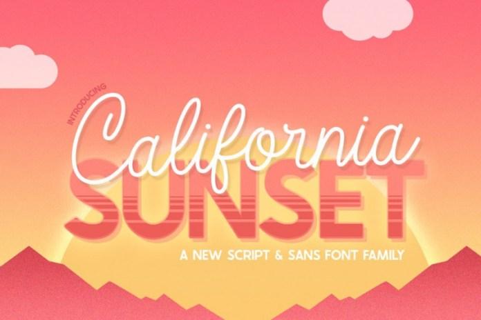 California Sunset Font