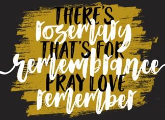 Rosemary Love Font