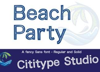 Beach Party Font