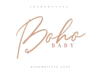 Boho Baby Font