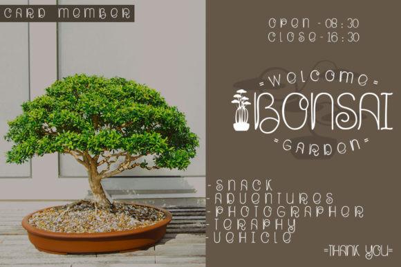 Bonsai Plants Font
