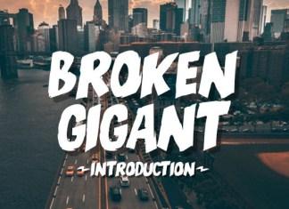 Broken Gigant Font