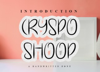 Cryspo Shoop  Font