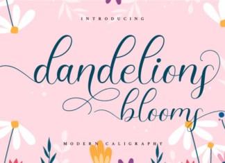 Dandelions Bloom  Font