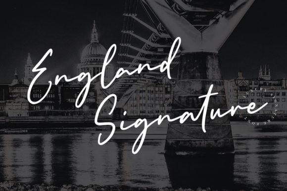 England Signature  Font