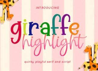 Giraffe Highlight Font
