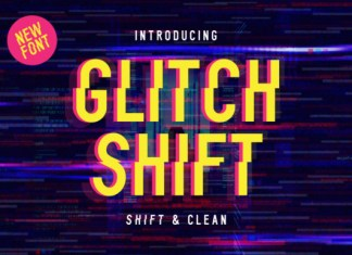 Glitch Shift Font