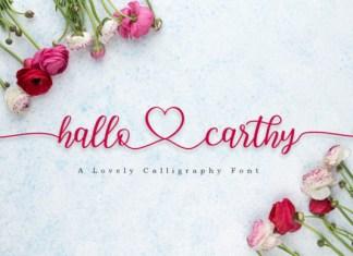Hallo Carthy Font