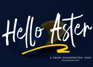 Hello Aster Font