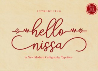 Hello Nissa  Font
