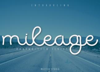 Mileage Font