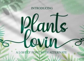 Plants Lovin Font