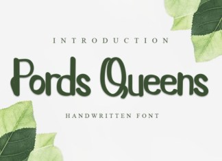 Pords Queens Font