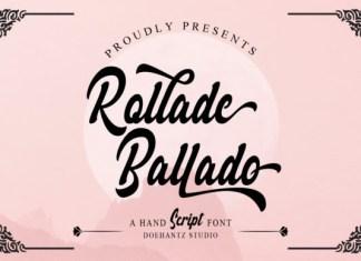 Rollade Ballado  Font