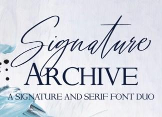 Signature Archive  Font