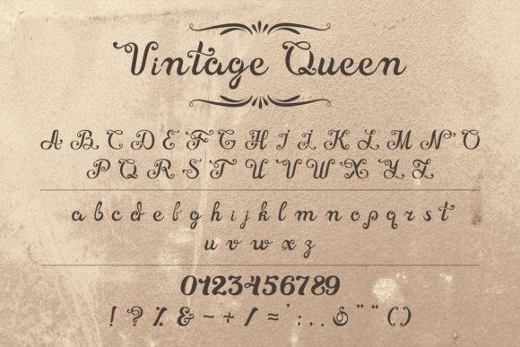 Vintage Queen  Font