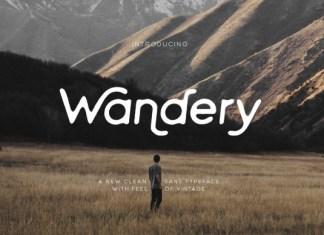 Wandery Font