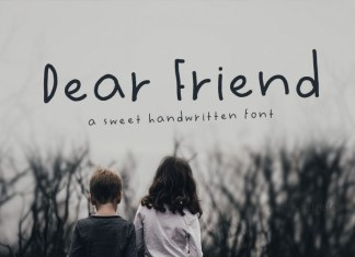 Dear Friend  Font