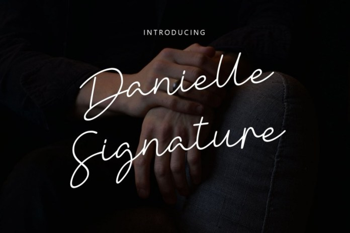 Danielle Signature Font