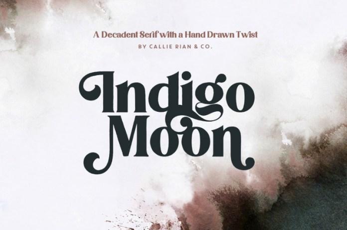 Indigo Moon  Font